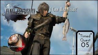 NEW How to Find and Complete Timed Quest: FISHING - Final Fantasy XV [ps4 720p60]