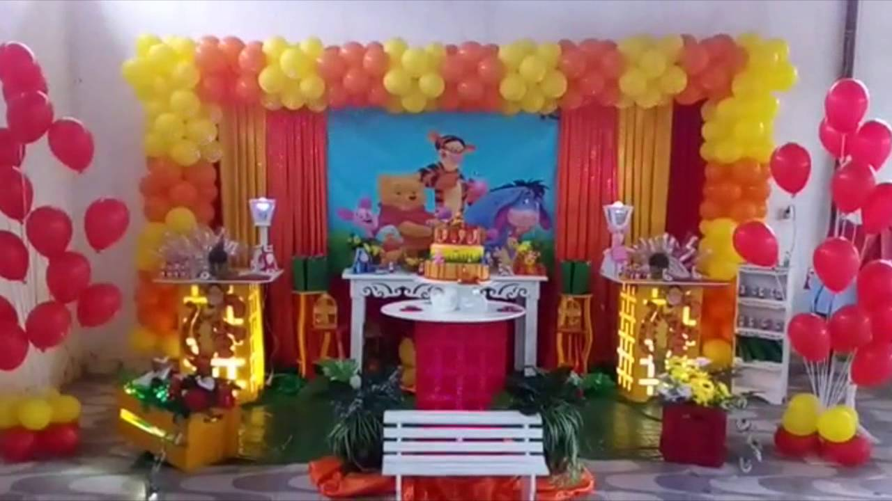 Decoracao Yotube ~ DECORA u00c7ÃO URSINHO POOH FESTA INFANTIL YouTube
