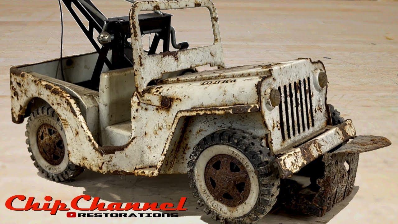 1968 Tonka Jeep Wrecker Snow Plow Tow Truck Recovery Willys CJ2A