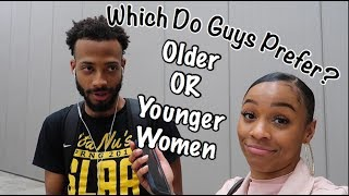 Which Do Guys Prefer Older or Younger Women | Public Interview