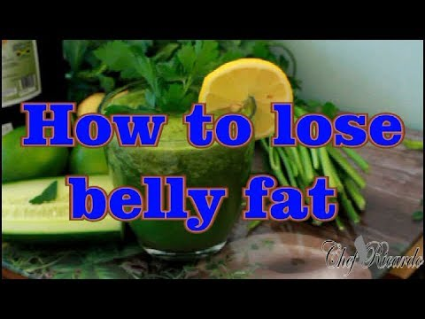 How To Lose Belly Fat In 2 Week With A Smoothie Drink Made With Lime, Cucumber And Mint Cinnamon