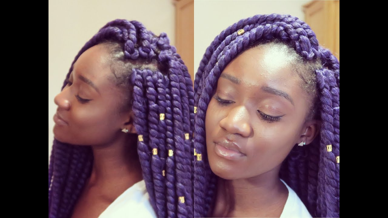 Twist Crochet Braids Tutorial Invisible Method & Braiding Pattern ...