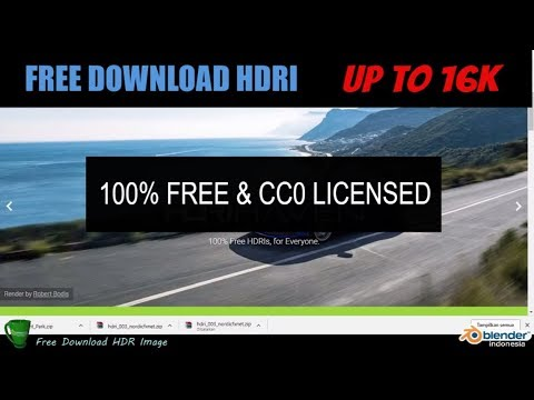 Free Download HDRI Public Domain up to 16K resolution