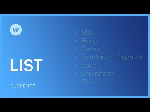 Ordered and unordered lists - Web design tutorial