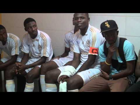 African11 Dressing Room5. Concentration. One World Soccer Game. AfaduSports Video Information