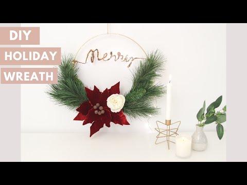 DIY Scandinavian Style Christmas Wreath with Twinkle Lights
