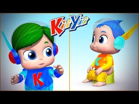 детские песни | Я мою руки + Еще! | KiiYii | мультфильмы для детей