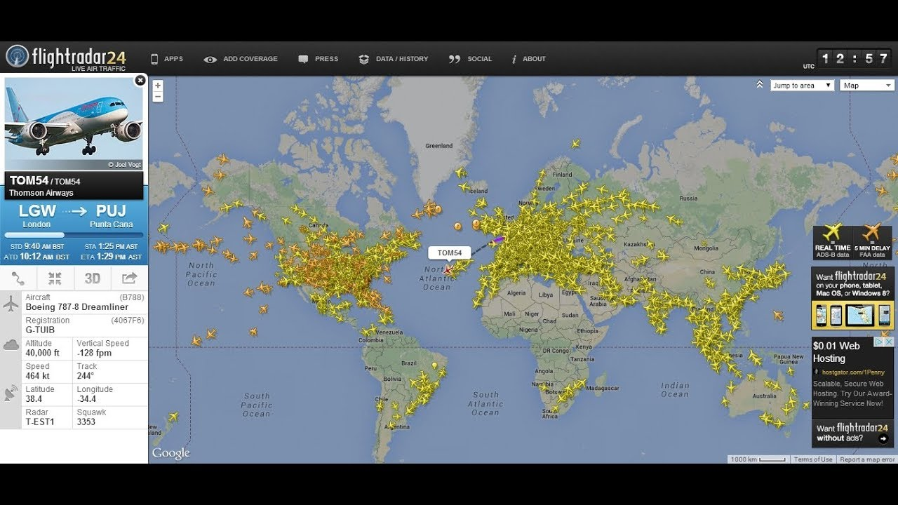 The BEST Flight Tracker LIVE 3D for Android 2017 - YouTube