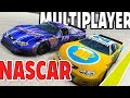 MULTIPLAYER Nascar Racing in BeamNG? 2 Player Races and Car Jump Arena! - BeamNG Drive Multiplayer