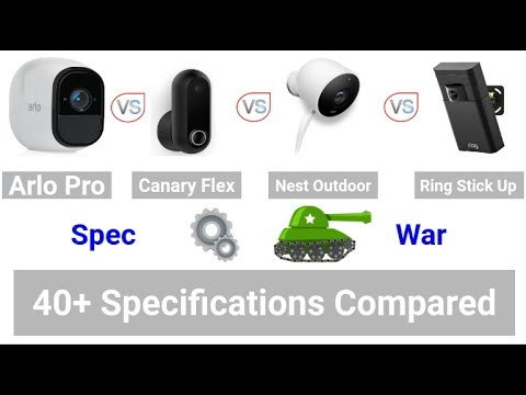 Arlo Pro Vs Canary Flex Vs Nest Outdoor Vs Ring Stick Up