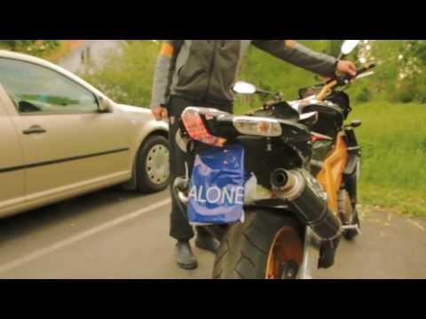 Funniest Exhaust Mod Ever - VW Borat & Aprilia Tuono - Inner Tube Exhaust