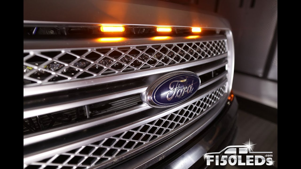 How To Install 2009 14 F150 Raptor Style Led Grill Lights