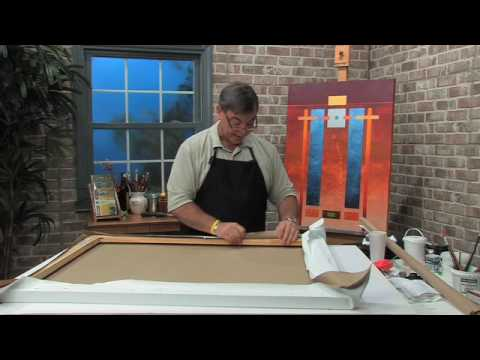 Free Art Lesson by Joe DiGiulio - How to Stretch a Canvas