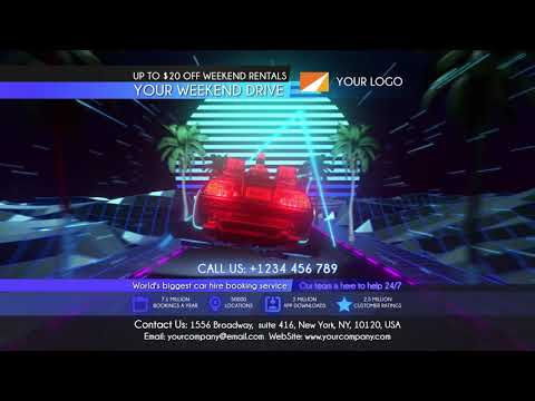 Rent Car After Effects Template