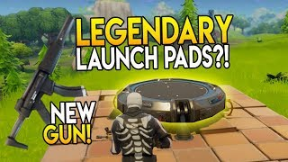 """LEGENDARY LAUNCH PAD?! NEW WEAPON SILENCED SMG!! V1.9 PATCH"" Fortnite Battle Royale News"