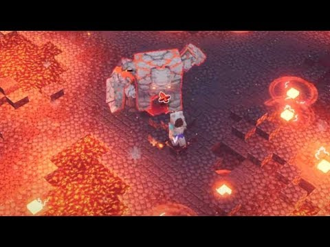 Vũ Liz Minecraft Dungeons Tập 4 : Đại Chiến Boss Golem Dung Nham !