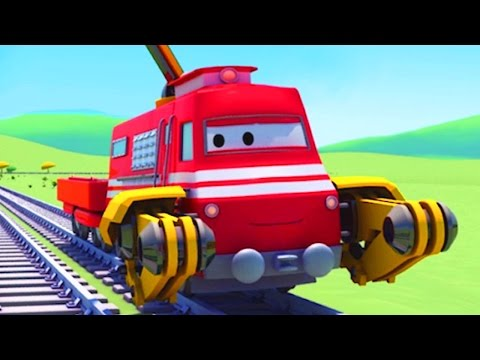 Troy the Train is the Crane Truck in Train Town of Car City | Trains & Trucks cartoons for kids