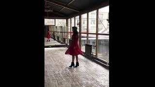 Платье миди с открытыми плечами из шифона Марсала
