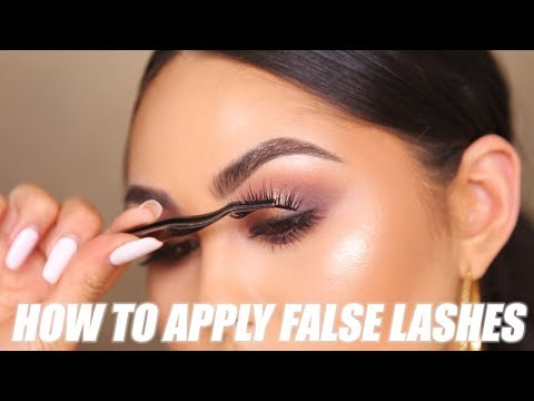 How To Apply False Lashes for Beginners | Roxette Arisa