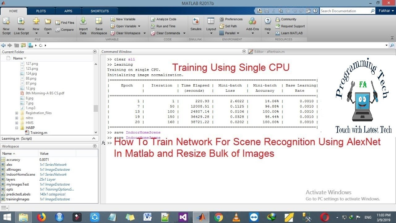 How To Train Network For Scene Recognition AlexNet Convolutional Neural  Network Training In Matlab