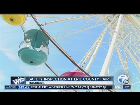 Multiple levels of inspection for Erie County Fair rides