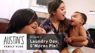 Folding Laundry & Making S'more Pie | Austin Vlog | HiHo Kids