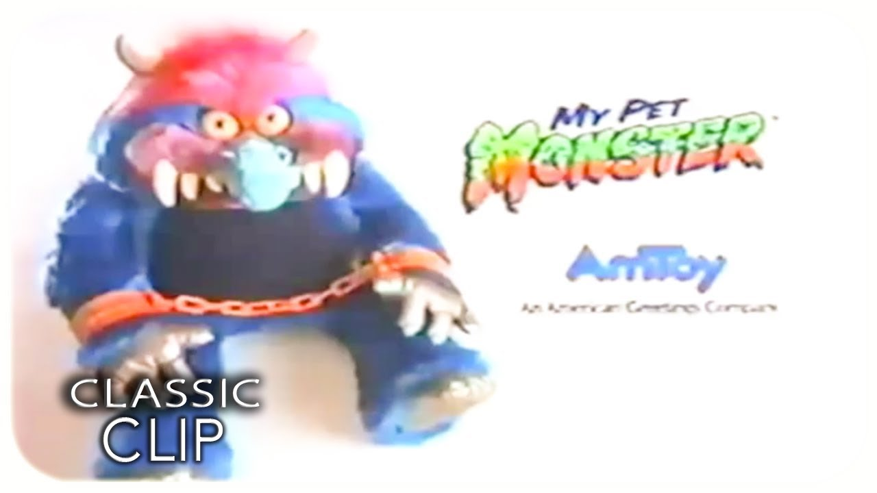 My Pet Monster Original Commercial 1986 Stuffed Animal Plush Doll