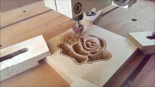 First Cutting/carving Job (first Test) My Homemade Cnc Router