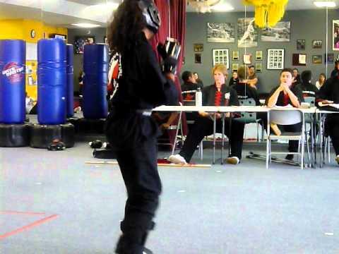 Mina's black belt testing