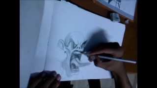 Hacker graffiti characters #1 how to draw evil clown