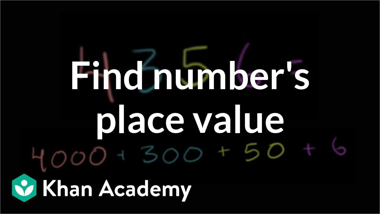 standard form kya hota hai  Finding place value (video) | Place value | Khan Academy