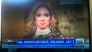 CNN anchor on SNL spoof Jay Z, Solange  Beyonce