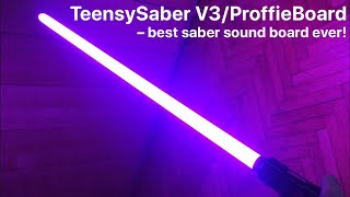 Custom lightsaber with most realistic motion recognition TeensySaber V3 ProffieBoard sound board