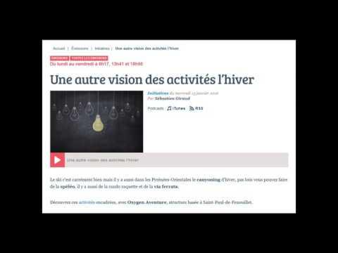 interview de Christophe d'Oxygen Aventure sur France Bleue Roussillon