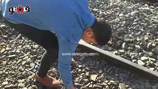 أهالي البدرشين يجمعون أشلاء جثث متناثرة على قضبان السكة الحديد