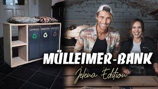 DIY MÜLLEIMER-BANK BAUEN MIT JELENA - super Sitzgelegenheit in der Küche | EASY  ALEX