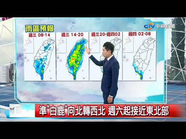 志耕天氣報報 午後外出仍要帶傘! 高雄屏東有局部大雨│中視午間氣象 20190821