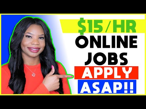 💵 $15 HOURLY Part-Time Work-From-Home Jobs! | Apply NOW!!