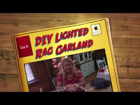 DIY Lighted Rag Garland
