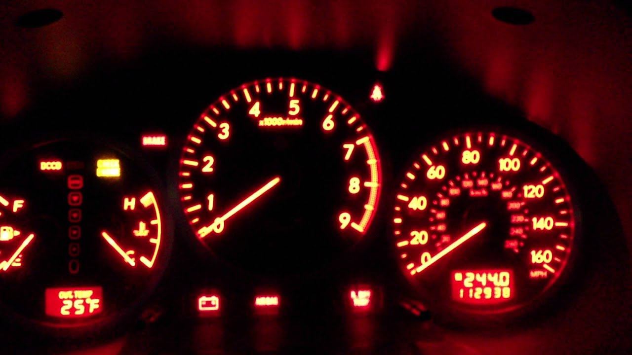 Sti 0 60 >> 2005 Subaru WRX STI Gauge Cluster Display Sweep Red - YouTube