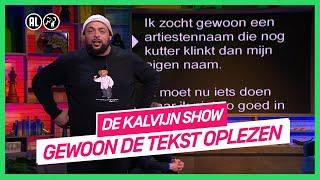 AUTOCUE CHALLENGE met: Qucee, Sylvana IJsselmuiden en Gerard Joling | De Kalvijn Show #1 | NPO 3 TV
