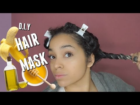 Simple DIY Hair Mask for DRY + FRIZZY Natural Hair | Banana, Olive Oil, + Honey