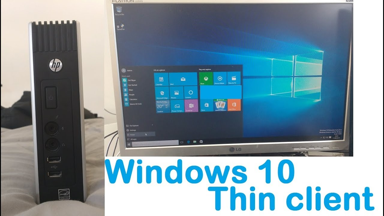 Full Windows 10 Install on thin client HP t51…