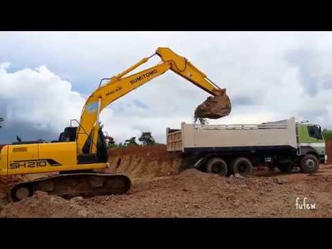 รถแบคโฮ Excavator SUMITOMO SH210 ขุดตักดินใส่รถสิบล้อ Trucks Thailand
