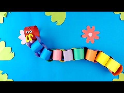 crafts-for-kids-to-do-at-home-:-making-snake-with-paper