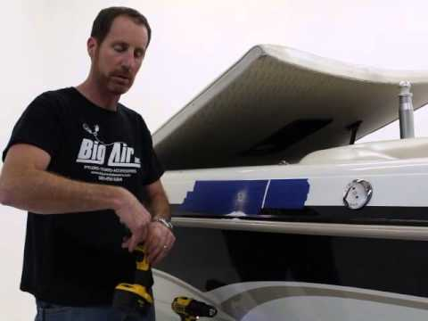 How To Drill Through Your Fiberglass Boat Hull Big Air Wake Towers Youtube