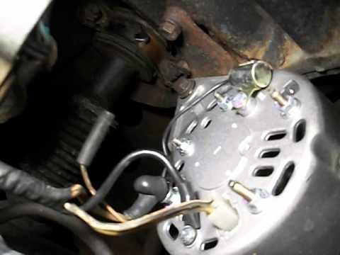 Voltage Regulator Wiring Diagram Standard Trailer Datsun 280z 1975 Alt - Youtube