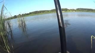 Рыбалка на карася в камышах с лодки(Выехал испытать свое приобретение, надувную лодку Барк и заодно порыбачить на удочку. что получилось - смот..., 2015-06-13T14:50:20.000Z)
