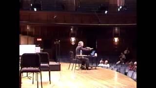 Princeton Symphony pre-performance talk, October 22, 2006