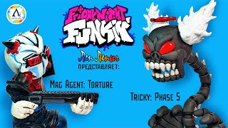 Трикки Phase 5 Маг Агент FNF Скелет Трикки Tricky Mod Mag Agent Madness Combat